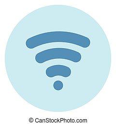 blu, wifi, collegamento fili, fondo, icona internet