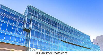 blue épület, modern, utah, provo, pohár