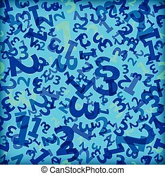 Blue 123 number background seamless