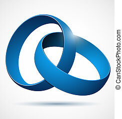 Blue 3d abstract vector design element