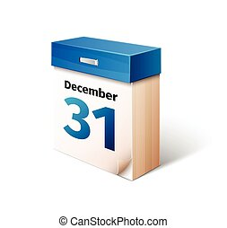 blue 3d calendar icon isolated on white