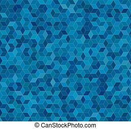 Blue 3d cube mosaic pattern background