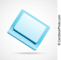 Blue 3d keyboard button