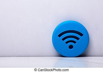 Blue 3d WiFi Icon