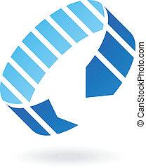 Blue Abstract Arrow Icon