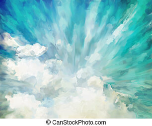 Blue abstract artistic background - Blue abstract dramatic...