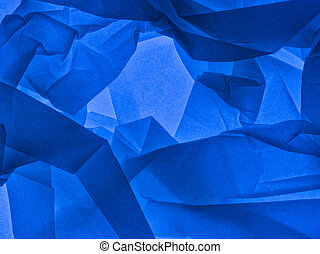 Blue abstract background. Backlit tissue paper.