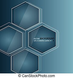 Blue abstract background in techno style. Modern business blank for presentation. Vector workpiece.