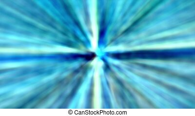 Blue abstract background, kaleidoscope light,