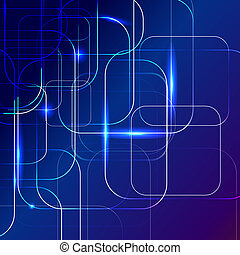 blue Abstract background of digital