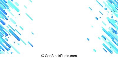 Blue abstract background on white. Vector paper illustration.