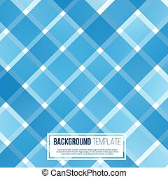 Blue abstract background template vector