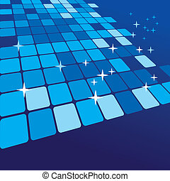 Blue abstract background. Vector illustration