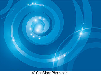 blue abstract background with a transparent spiral