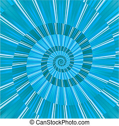 Blue abstract background with abstract spiral, vector illustration