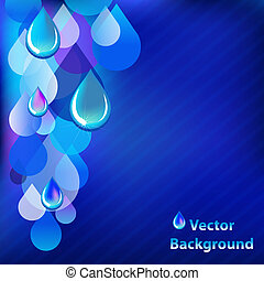 Blue Abstract Background With Drops