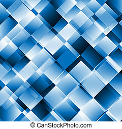 Blue abstract background with geometric pattern