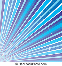 Blue abstract background with strips and stars, vector illustration eps 10.0