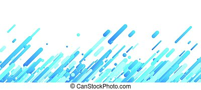 Blue abstract banner on white.