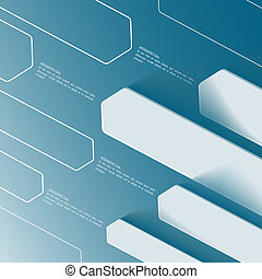 Blue abstract banner template. Use for business presentation
