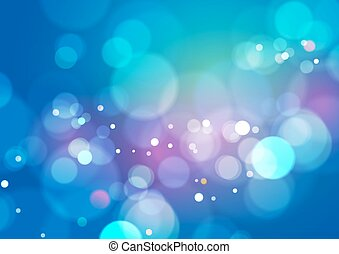 Blue Abstract Bokeh Light Background