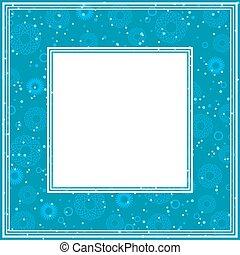 blue abstract border
