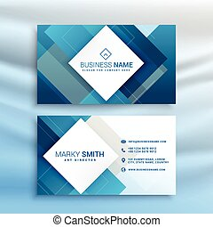 blue abstract business card modern template