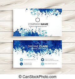 blue abstract business card