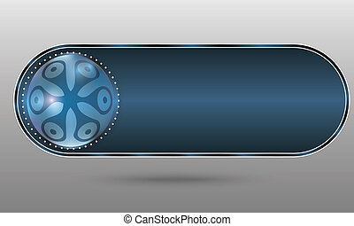 blue abstract button