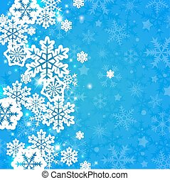 Blue abstract Christmas background