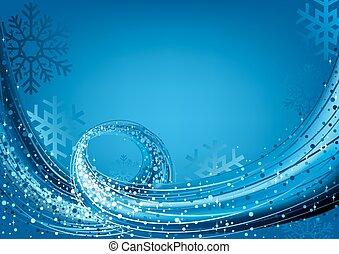 Blue Abstract Christmas Greeting