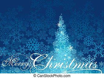 Blue Abstract Christmas Tree