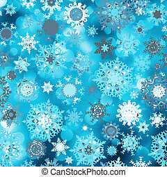 Blue abstract christmas with snowflake. EPS 8