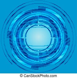 Blue Abstract Circle