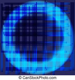 Blue abstract circle grid backgroun