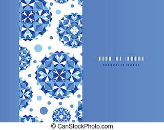 Blue abstract circles horizontal seamless pattern background