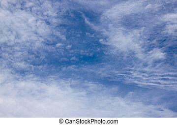 Blue Abstract Cloudy Sky Background with Patterns and Textures