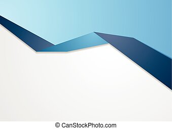 Blue abstract corporate background