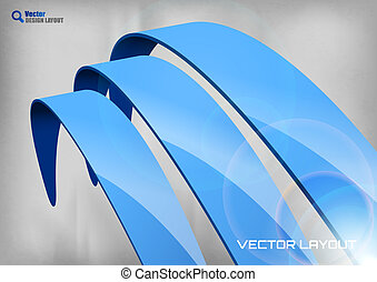 Blue Abstract Curves