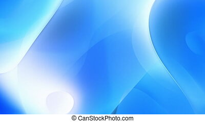 Blue abstract curves motion background seamless loop