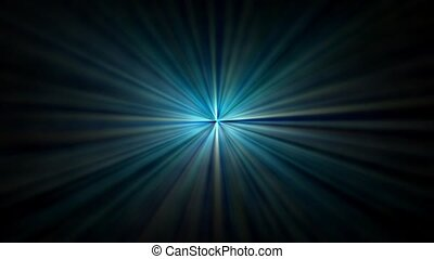 Blue abstract dark background, kaleidoscope light,
