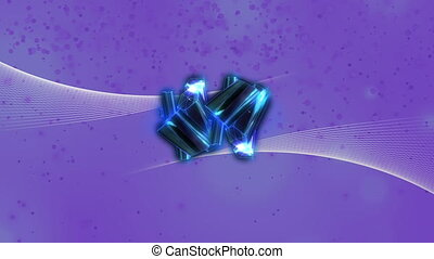 Blue abstract design moving against blue background