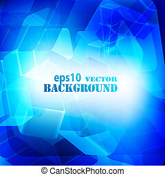 Blue abstract digital light background