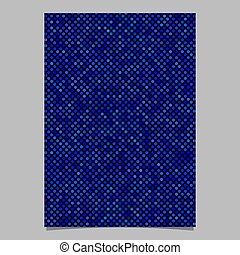 Blue abstract dot pattern brochure background - vector template design
