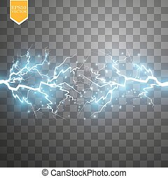 Blue abstract energy shock explosion special light effect...