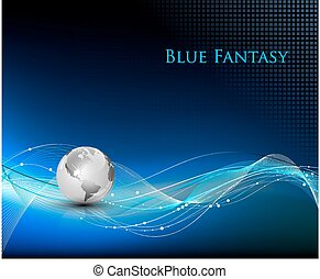 Blue abstract fantasy background