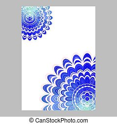 Blue abstract floral mandala page background