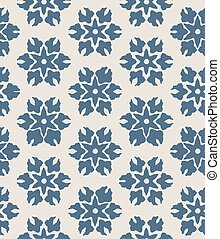 Blue abstract floral seamless vector pattern background with stylised flowers for fabric, wallpaper, scrapbooking projects.