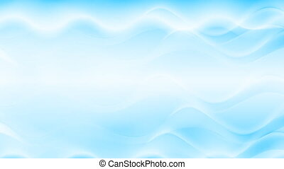 Blue abstract flowing waves video animation