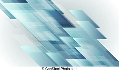 Blue abstract hi-tech shapes video animation - Blue abstract...